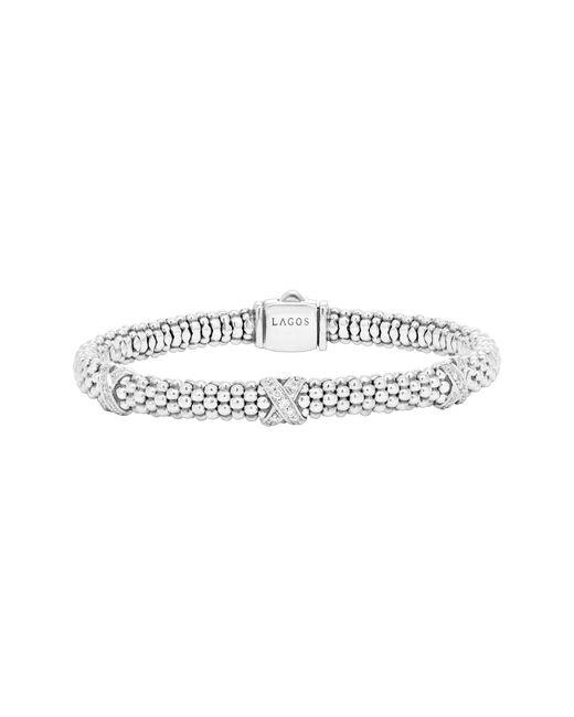 Lagos - Metallic 'signature Caviar' Diamond Rope Bracelet - Lyst