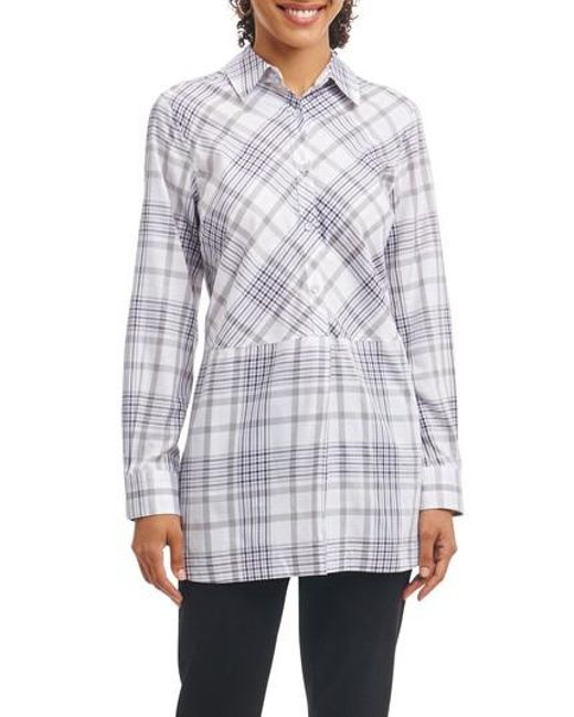 Foxcroft   Multicolor Maddy Plaid Tunic Shirt   Lyst