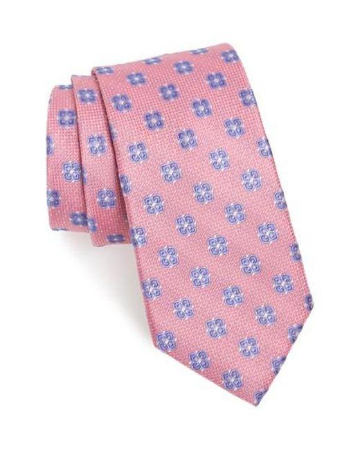 Nordstrom - Pink Matteo Floral Silk Tie for Men - Lyst
