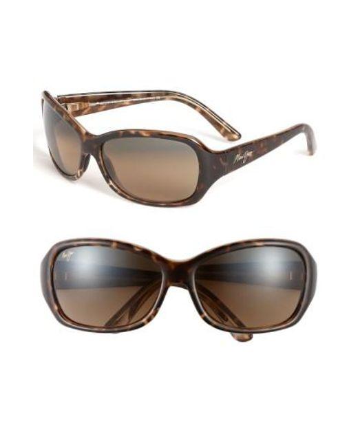 Maui Jim | Brown Pearl City 63mm Polarizedplus2 Sunglasses | Lyst