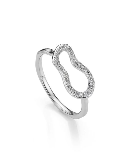 Monica Vinader - Metallic Riva Mini Pod Vermeil Diamond Ring - Lyst
