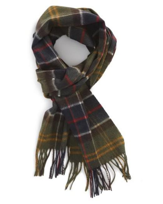 Barbour | Green Merino Wool & Cashmere Scarf for Men | Lyst