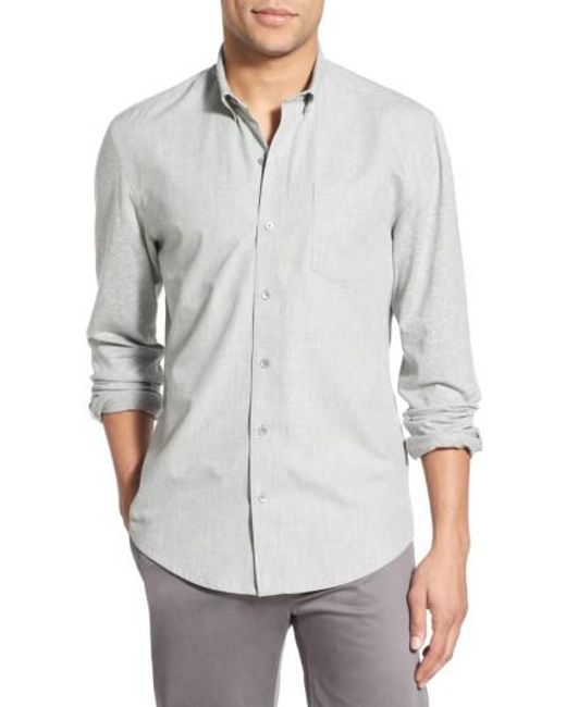 W.r.k. | Gray 'reworked' Trim Fit Sport Shirt for Men | Lyst