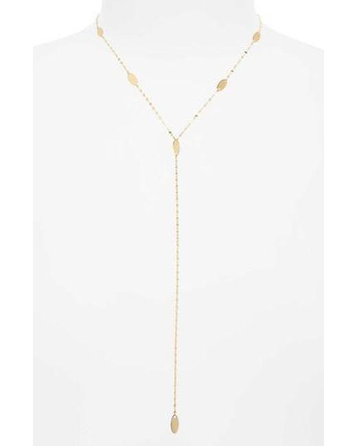 Lana Jewelry | Metallic Bond Long Ombre Marquis Lariat Necklace | Lyst