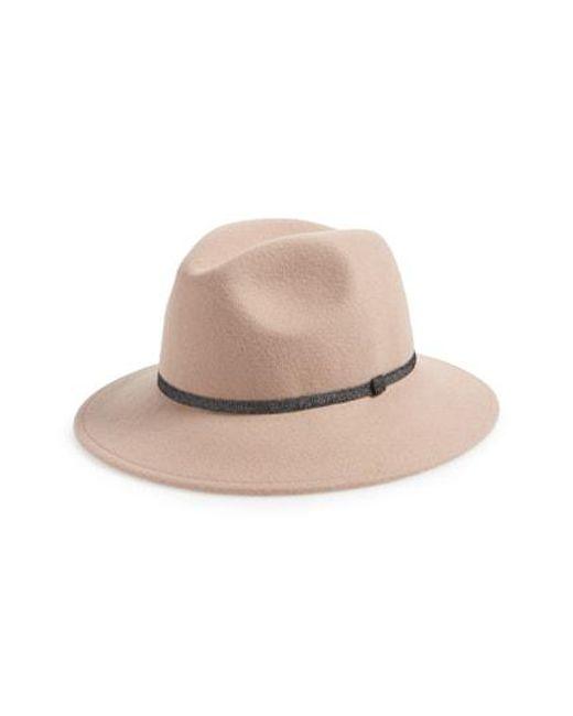 Treasure   Bond - Multicolor Metallic Band Wool Felt Panama Hat - - Lyst f7ded34b027b