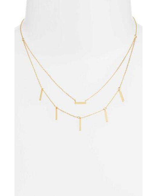 Melinda Maria - Metallic Double Sticks Necklace - Lyst