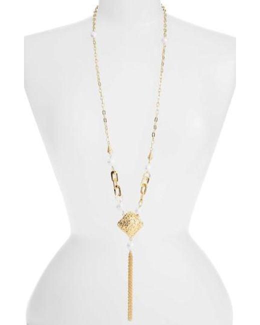 Karine Sultan | Metallic Long Y-necklace | Lyst