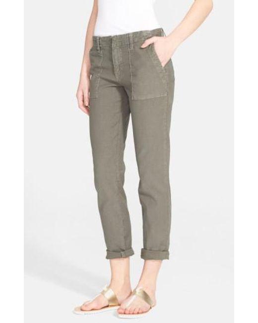 Joie - Green Painter Cotton & Linen Pants - Lyst