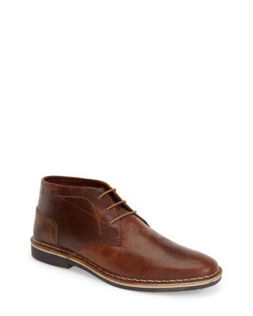 Steve Madden   Brown 'harken' Leather Chukka Boot for Men   Lyst