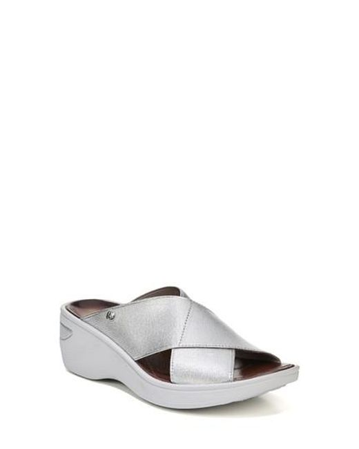e731538116f Lyst - Bzees  desire  Wedge Sandal in Metallic