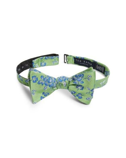 Ted Baker - Green Floral Silk Bow Tie for Men - Lyst
