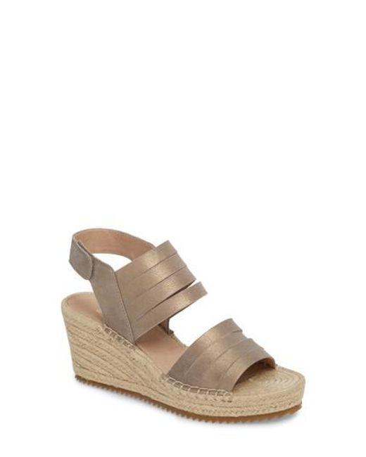 Eileen Fisher Largo Espadrille Wedge Sandals hOHS3