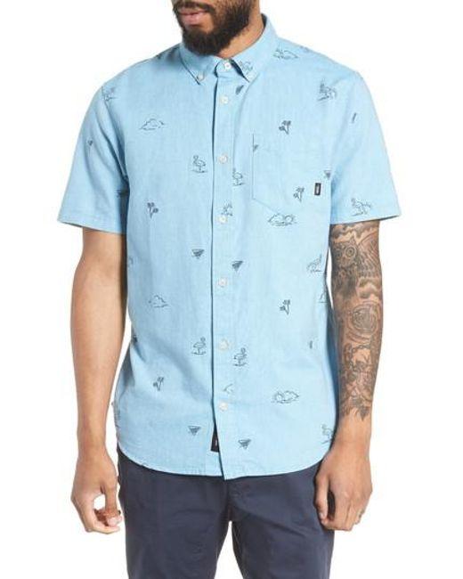 Vans - Blue Houser Woven Shirt for Men - Lyst