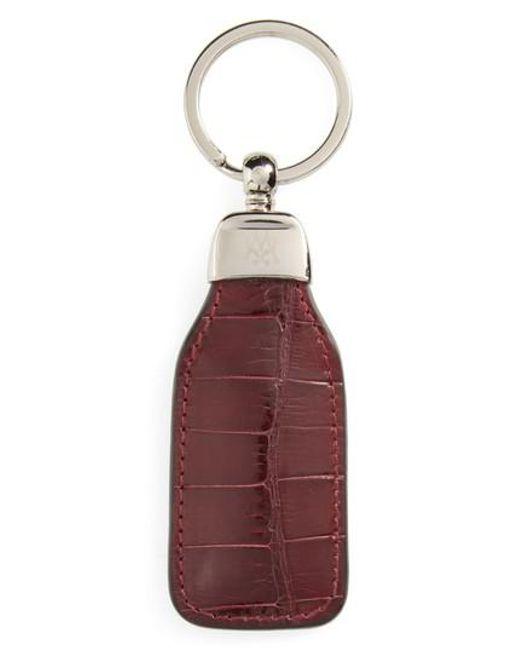 Mezlan - Red Alligator Leather Key Chain - Lyst