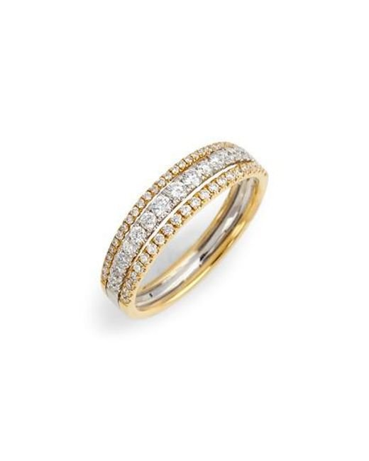Bony Levy - Metallic Diamond Stack Ring (nordstrom Exclusive) - Lyst