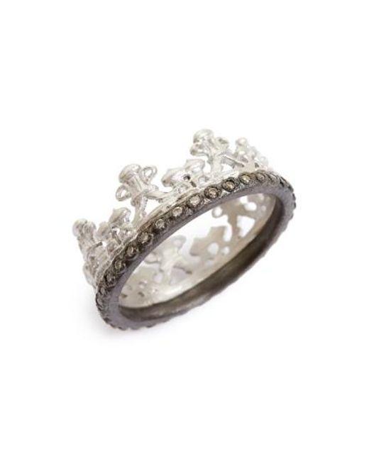 Armenta | Metallic Old World Half Crown Diamond Ring | Lyst