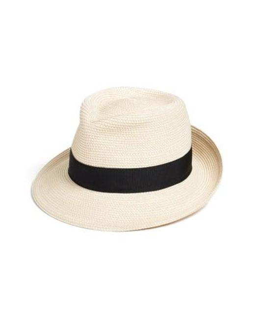 Eric Javits | Black 'classic' Squishee Packable Fedora Sun Hat | Lyst