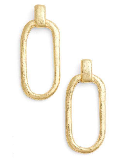 Karine Sultan - Metallic Doorknocker Earrings - Lyst