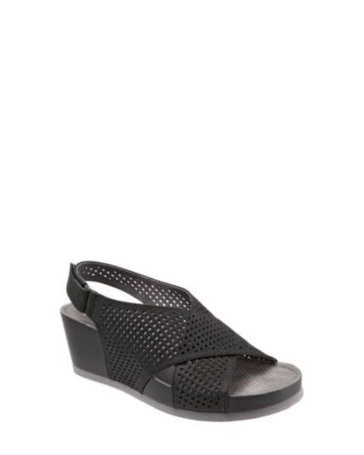 Softwalk® | Black Softwalk Hansford Wedge Sandal | Lyst