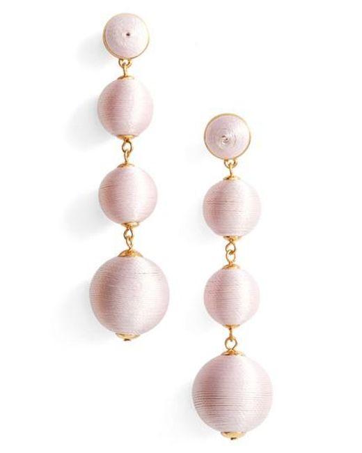 BaubleBar | Pink Criselda Ball Shoulder Duster Earrings | Lyst