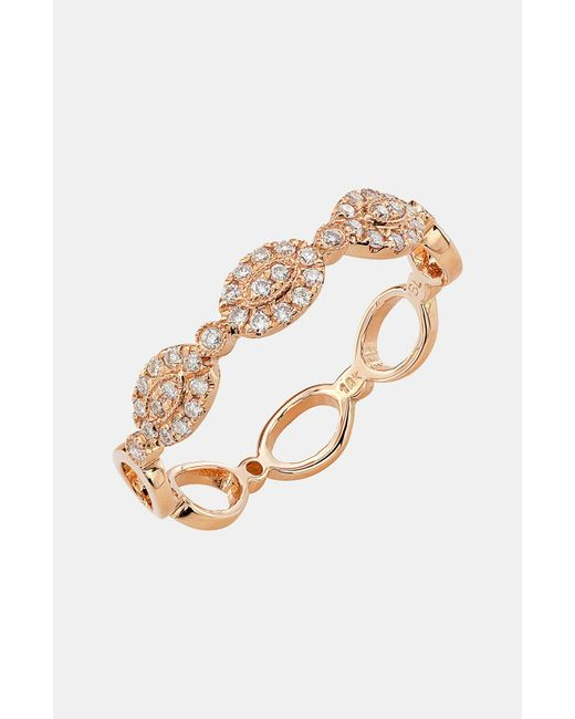 Bony Levy - Metallic Oval Diamond Stackable Ring (nordstrom Exclusive) - Lyst