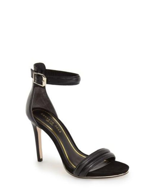 Kenneth Cole | Black 'brooke' Ankle Strap Sandal | Lyst