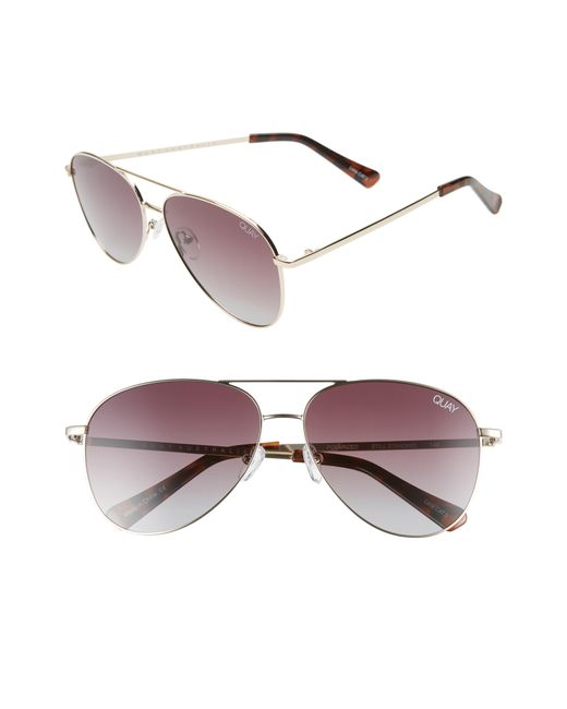 33c6a12f51 Lyst - Quay Still Standing 60mm Aviator Sunglasses - in Metallic for Men