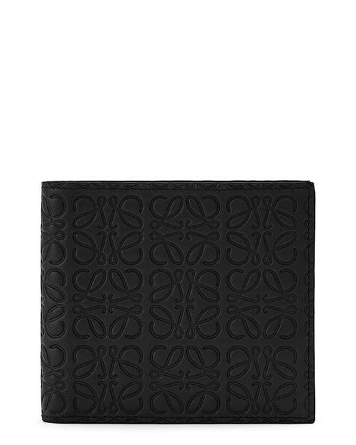 Loewe Black Logo Embossed Calfskin Leather Bifold Wallet