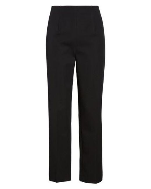Ming Wang - Black Woven Slim Ankle Pants - Lyst