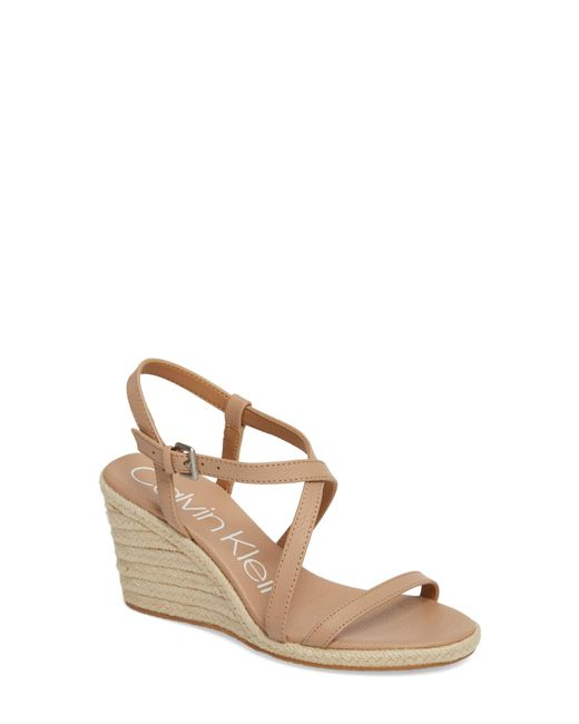 Calvin Klein - Natural Bellemine Espadrille Wedge Sandal - Lyst