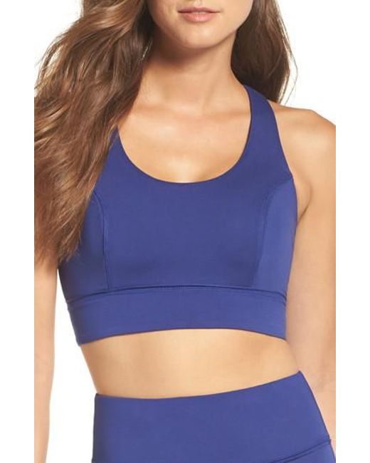 Free People   Blue Fp Movement Synergy Bra   Lyst