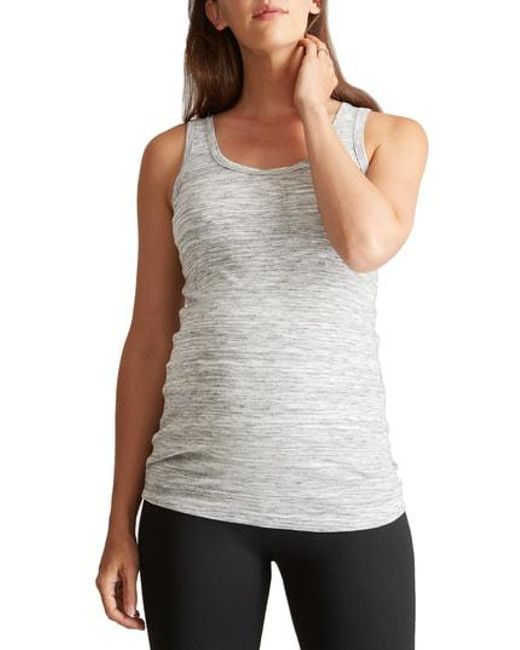 Ingrid & Isabel - White Ingrid & Isabel Scoop Neck Maternity Tank - Lyst