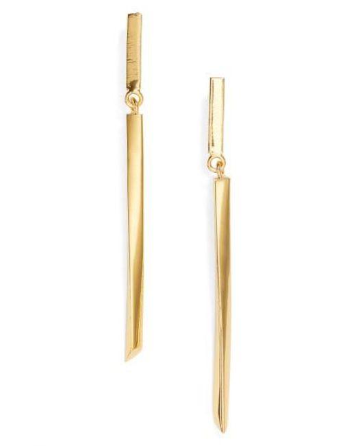 Argento Vivo   Metallic Linear Drop Earrings   Lyst