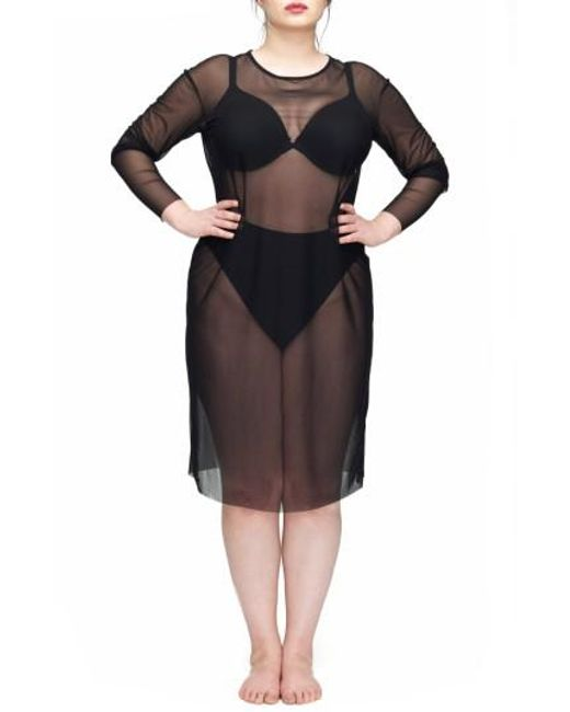 UNIVERSAL STANDARD | Black Thames Fog Sheer Dress | Lyst