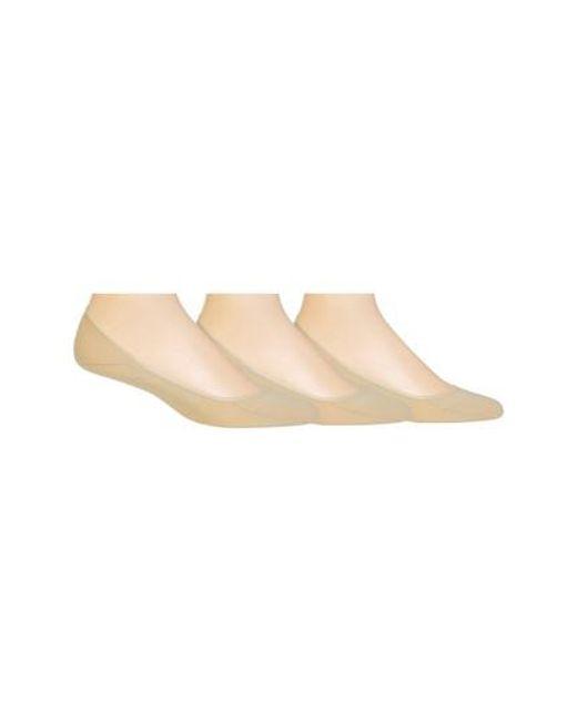 Polo Ralph Lauren | Natural 3-pack Liner Socks, Beige for Men | Lyst