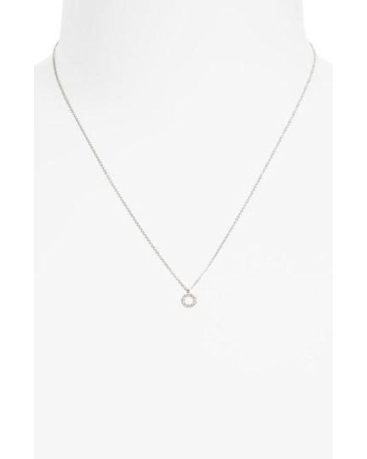 Bony Levy   Metallic Simple Obsessions Diamond Pendant Necklace   Lyst