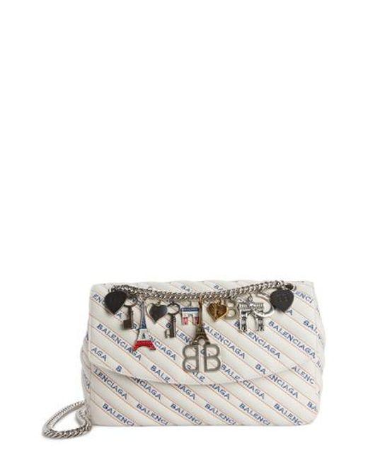 Balenciaga - Multicolor Medium Bb Round Logo Charm Crossbody Bag - Lyst