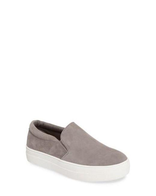 Steve Madden - Gray Gills Platform Slip-on Sneaker - Lyst