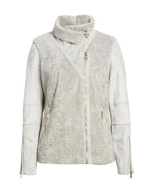 Vince Camuto   Gray Faux Shearling Jacket   Lyst