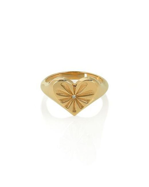 Marlo Laz - Metallic Heart 14-karat Gold Diamond Ring - Lyst
