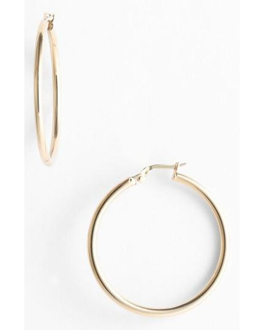 Roberto Coin | Yellow 35mm Gold Hoop Earrings | Lyst