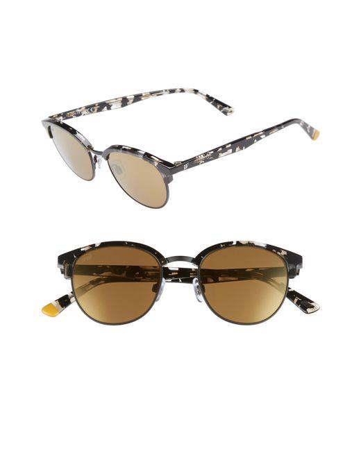 Web - Brown 49mm Half Rim Sunglasses - Lyst