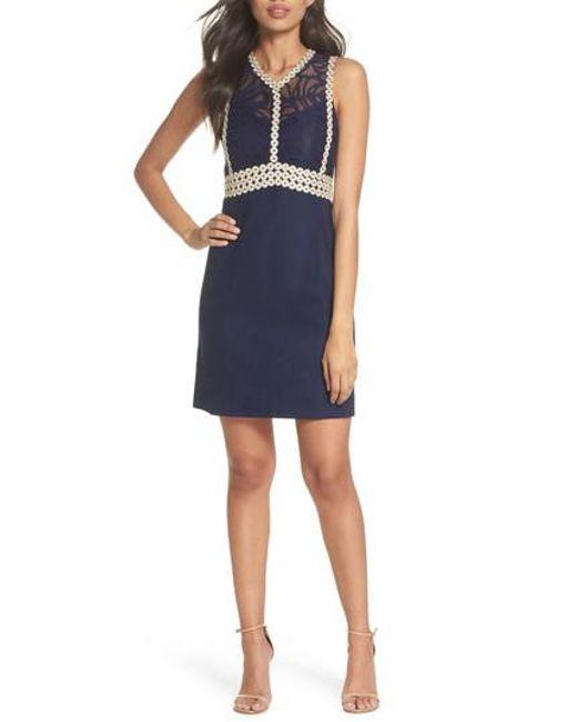 Lilly Pulitzer - Blue Lilly Pulitzer Leigh Stretch Sheath Dress - Lyst
