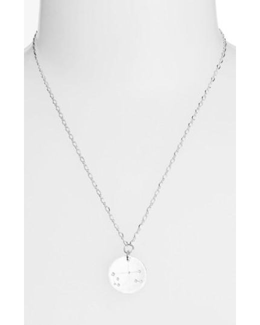 Nashelle | Metallic Ija 'large Zodiac' Sterling Silver Necklace | Lyst