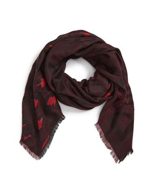 KENZO - Multicolor Leopard Tiger Head Jacquard Scarf - Lyst