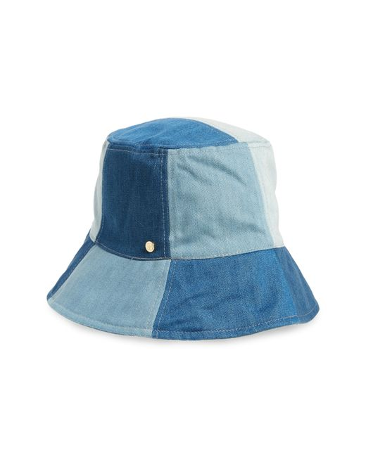 BCBGMAXAZRIA - Blue Patchwork Denim Bucket Hat - Lyst