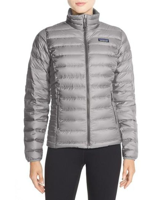 Patagonia Quilted Pullover Nordstrom: Patagonia Packable Down Sweater Jacket, Grey In Gray