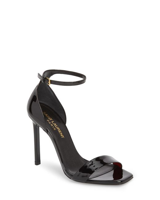 Saint Laurent - Black Amber Ankle Strap Sandal - Lyst