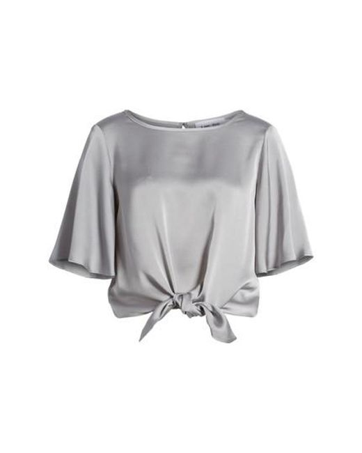 Line & Dot | Gray Tied Top | Lyst