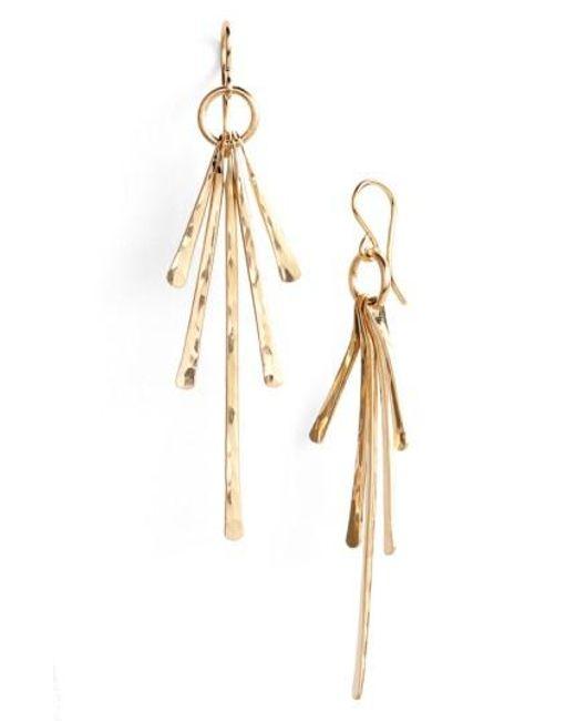 Nashelle | Metallic Ija Sunburst Drop Earrings | Lyst